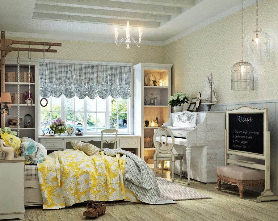 Детская комната в стиле прованса для подростка
