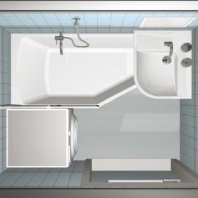 раковина над ванной дизайн идеи