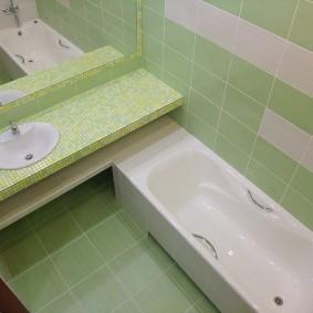 раковина над ванной декор