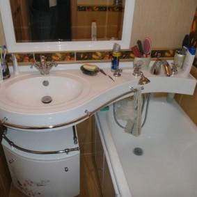 раковина над ванной декор фото