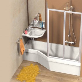 раковина над ванной фото декор