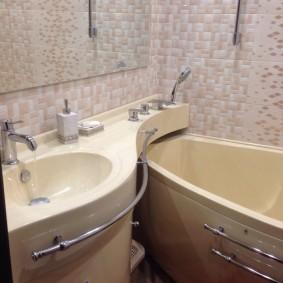 раковина над ванной декор идеи