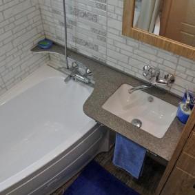 раковина над ванной интерьер