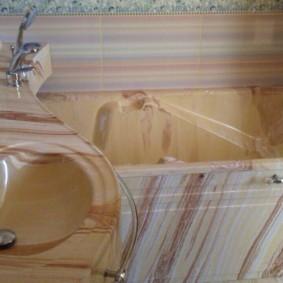 раковина над ванной фото интерьера