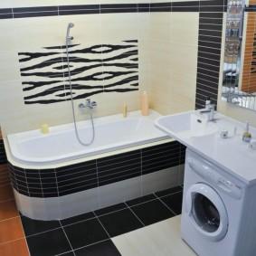 раковина над ванной идеи интерьера