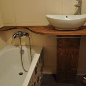 раковина над ванной фото оформление