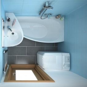 раковина над ванной фото оформления