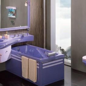 раковина над ванной варианты