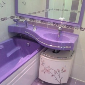 раковина над ванной фото виды