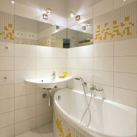 раковина над ванной фото видов