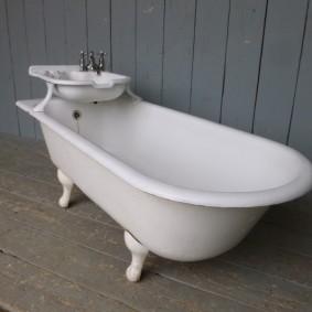 раковина над ванной виды идеи