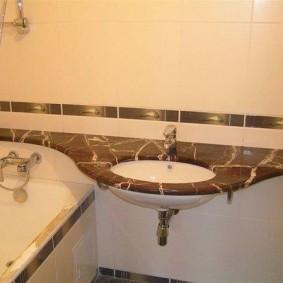 раковина над ванной фото идеи