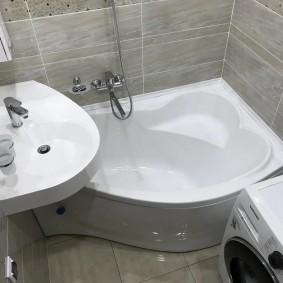 раковина над ванной дизайн