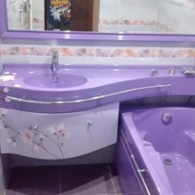 раковина над ванной оформление фото