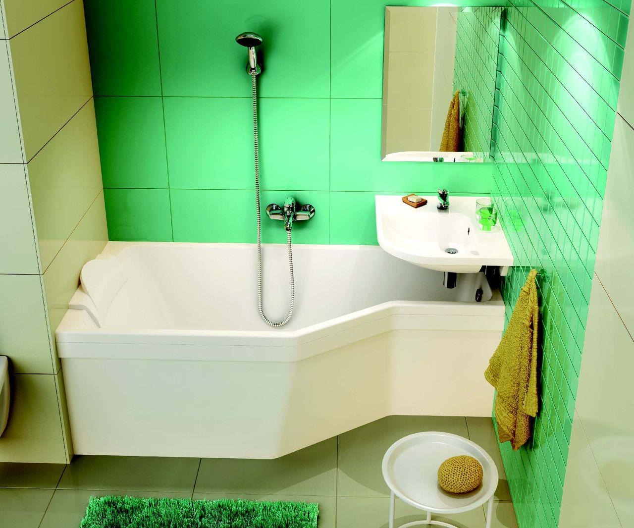 раковина над ванной в интерьере