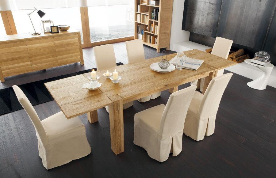Мебель из натуральных материалов в гостиной эко-стиля