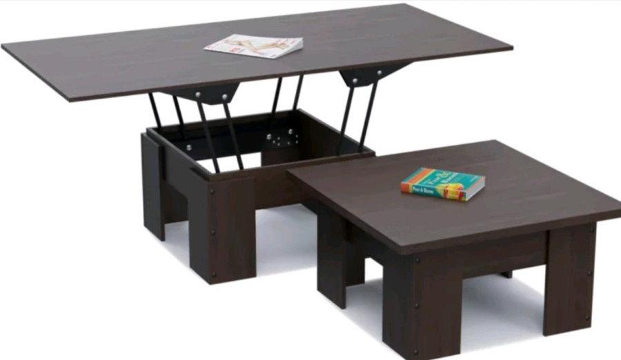 Раскладной журнальный стол с подъемным механизмом