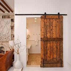 Деревянной полотно раздвижной двери