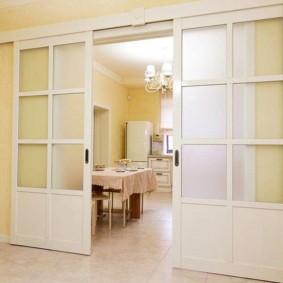 Легкая модель раздвижной двери