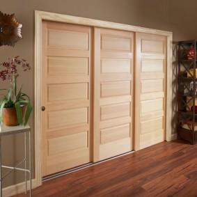 Каскадные двери с отделкой шпоном