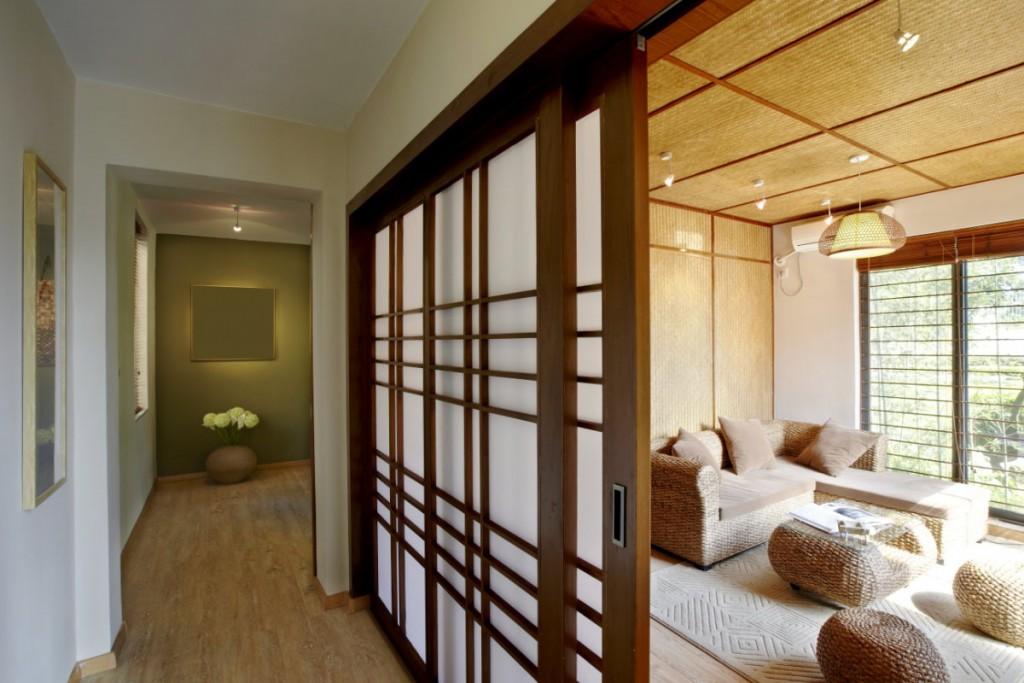 Раздвижные двери в доме японского стиля