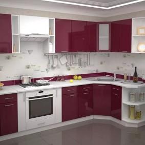 ремонт кухни площадью 9 кв м идеи фото