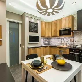 ремонт кухни площадью 9 кв м идеи виды