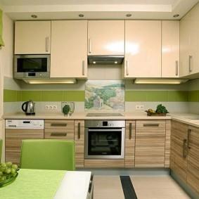 ремонт кухни площадью 9 кв м дизайн фото