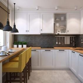 ремонт кухни площадью 9 кв м фото дизайн