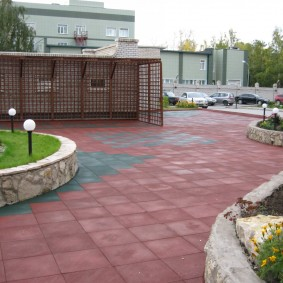 резиновое покрытие для двора фото дизайн