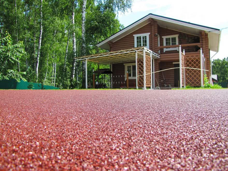 резиновое покрытие для двора дома