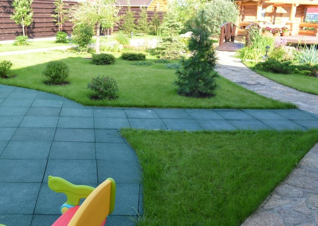 резиновые садовые дорожки фото