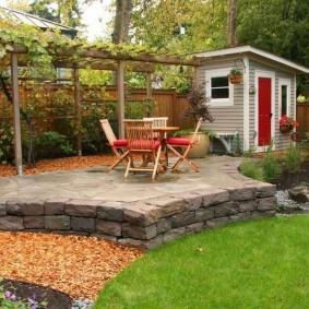 сад в частном доме варианты