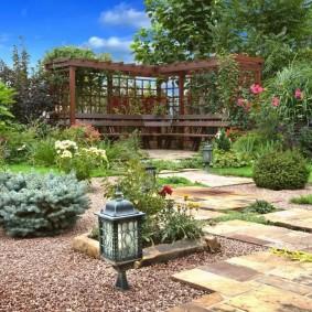 сад в частном доме виды