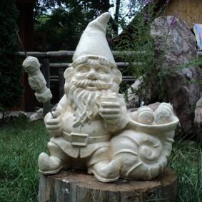 садовая фигура гном оформление