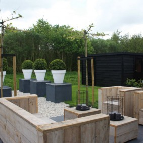 садовая мебель из дерева и металла варианты дизайна