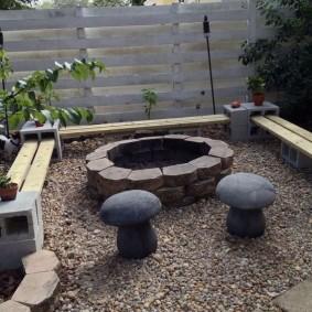 садовая мебель из дерева и металла идеи фото