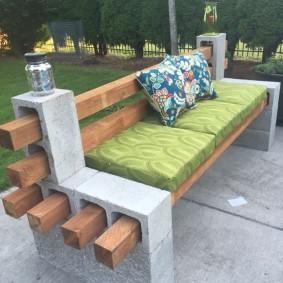 садовая мебель из дерева и металла фото идеи