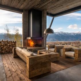 садовая мебель из дерева и металла фото декор