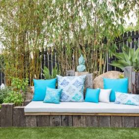 садовая мебель из дерева и металла фото декора