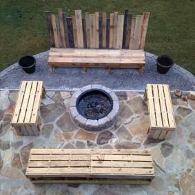 садовая мебель из дерева и металла декор идеи