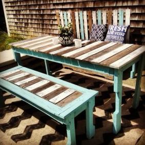 садовая мебель из дерева и металла оформление фото