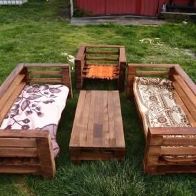 садовая мебель из дерева и металла фото оформление