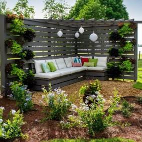 садовая мебель из дерева и металла фото оформления