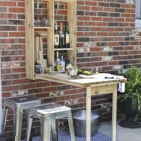 садовая мебель из дерева и металла фото варианты