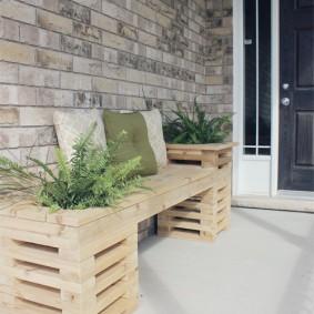 садовая мебель из дерева и металла фото вариантов