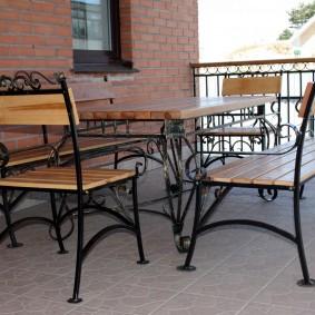 садовая мебель из дерева и металла варианты идеи