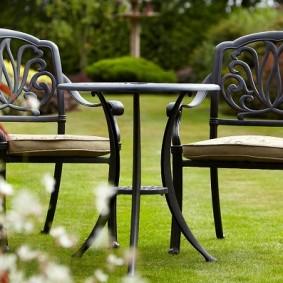 садовая мебель из дерева и металла идеи варианты