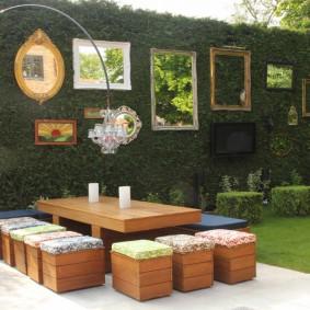 садовая мебель из дерева и металла обзор фото