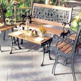 садовая мебель из дерева и металла идеи вариантов